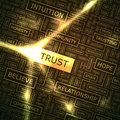 Trust word cloud illustration tag cloud concept collage Stock Photo