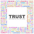 Trust word cloud illustration tag cloud concept collage usable for different business design Stock Photo