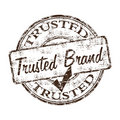 Trusted brand rubber stamp Stock Image