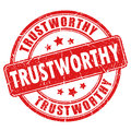 Trustworthy rubber stamp Royalty Free Stock Photo