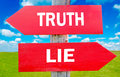 Truth or lie Royalty Free Stock Photo