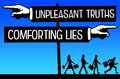 Truth and lies Royalty Free Stock Photo