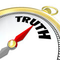Truth Word Compass Conscience Lead to Honesty Sincerity Royalty Free Stock Photo