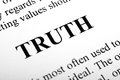 Truth the word shot with artistic selective focus Royalty Free Stock Image