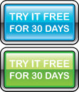Try it Free for 30 Days button Royalty Free Stock Photo