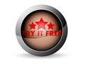 Try it free icon on a white background Royalty Free Stock Image