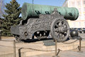 Tsar cannon king cannon in moscow kremlin in summer view of is a popular touristic landmark unesco world heritage Royalty Free Stock Photography