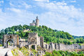 Tsarevets fortress and the Patriarchal church in Veliko Tarnovo, Bulgaria. Royalty Free Stock Photo