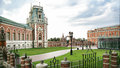 Tsaritsyno park in moscow the big palace architecture of russia Stock Photos