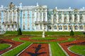 Tsarskoe selo regular park in front of the catherine palace Royalty Free Stock Photos