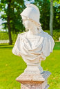 Tsarskoye Selo. Catherine Park. Bust Bellum Stock Photo