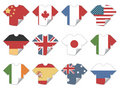 Tshirt flag stickers Royalty Free Stock Images