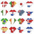 Tshirt flags Stock Images