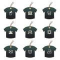 Tshirt tags with fabric care motifs Stock Photography