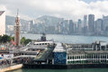 Tsim Sha Tsui Star Ferry Pier with blue sky Royalty Free Stock Photo
