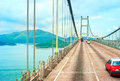 Tsing ma bridge famous in hong kong Royalty Free Stock Photo