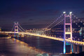 Tsing Ma Bridge in Hong Kong. Royalty Free Stock Images