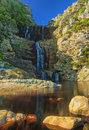 Tsitsikamma waterfall national park eastern cape south africa Royalty Free Stock Photos
