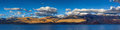 Tso moriri ladakh panorama of himalayan lake in himalayas on sunset korzok india Stock Photo
