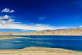 Tso moriri lake in himalayas ladakh india mountain Stock Photos