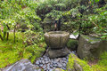 Tsukubai Water Fountain at Japanese Garden Royalty Free Stock Photo