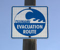 Tsunami Evacuation Sign Stock Image