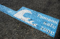 Tsunami safe zone marked on the streets of wellington city new zealand Stock Photos