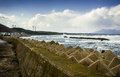 Tsunami storm barrier Royalty Free Stock Photography