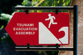 Tsunami warning sign Royalty Free Stock Images