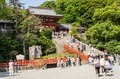 Tsurugaoka hachimangu shrine japan june june in kamakura japan one the most important shinto in kamakura and an important Stock Photography