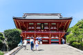 Tsurugaoka Hachimangu shrine in Kamakura Royalty Free Stock Photo