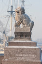 Tsza chi chi za a pair of granite mythological guardian lion st petersburg russia february lions established during the descent to Stock Photo