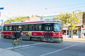 Ttc streetcar public transportation in toronto october on lakeshore blvd the transit commission operates lines and streetcars as Royalty Free Stock Images