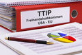 Ttip transatlantic trade and investment partnership between usa europe Royalty Free Stock Images