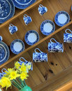 Ttraditional welsh kitchen dresser and china Stock Image
