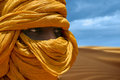 Tuareg posing for a portrait Royalty Free Stock Photo