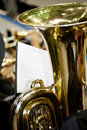The Tuba in the Band Royalty Free Stock Photo