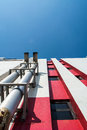 Tube for air ventilation on building metallic industrial Stock Photography