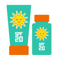 Tube container of sun cream sunscreen spf the blue tube on white background summer sun tanning and sunscreen concept sun ca care Stock Image