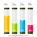 Tube meter infographic elements vector illustration of colorful Royalty Free Stock Photography