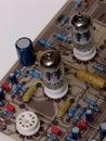 Tube valve radio amplifier, preamplifier Royalty Free Stock Photo