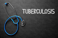 Tuberculosis Handwritten on Chalkboard. 3D Illustration.