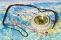 Tubular compass Stock Photos