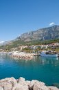 Tucepi makarska riviera dalmatia croatia the village of at the in croatian adriatic sea Royalty Free Stock Photos