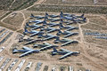 Tucson boneyard airplanes mothballed for future scrape metal Stock Images