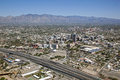 Tucson skyline includes downtown arizona campus and santa catalina mountain range Royalty Free Stock Image