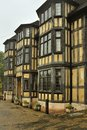 Tudor architecture shrewsbury seen here in england is typical construction this style of building is dated ad give or take a few Stock Photos