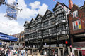 Tudor building in Bridge street. Chester. England Royalty Free Stock Images