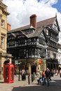 Tudor building in Eastgate Street. Chester. England Stock Photography