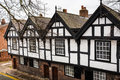 Tudor buildings black and white in chester Stock Image